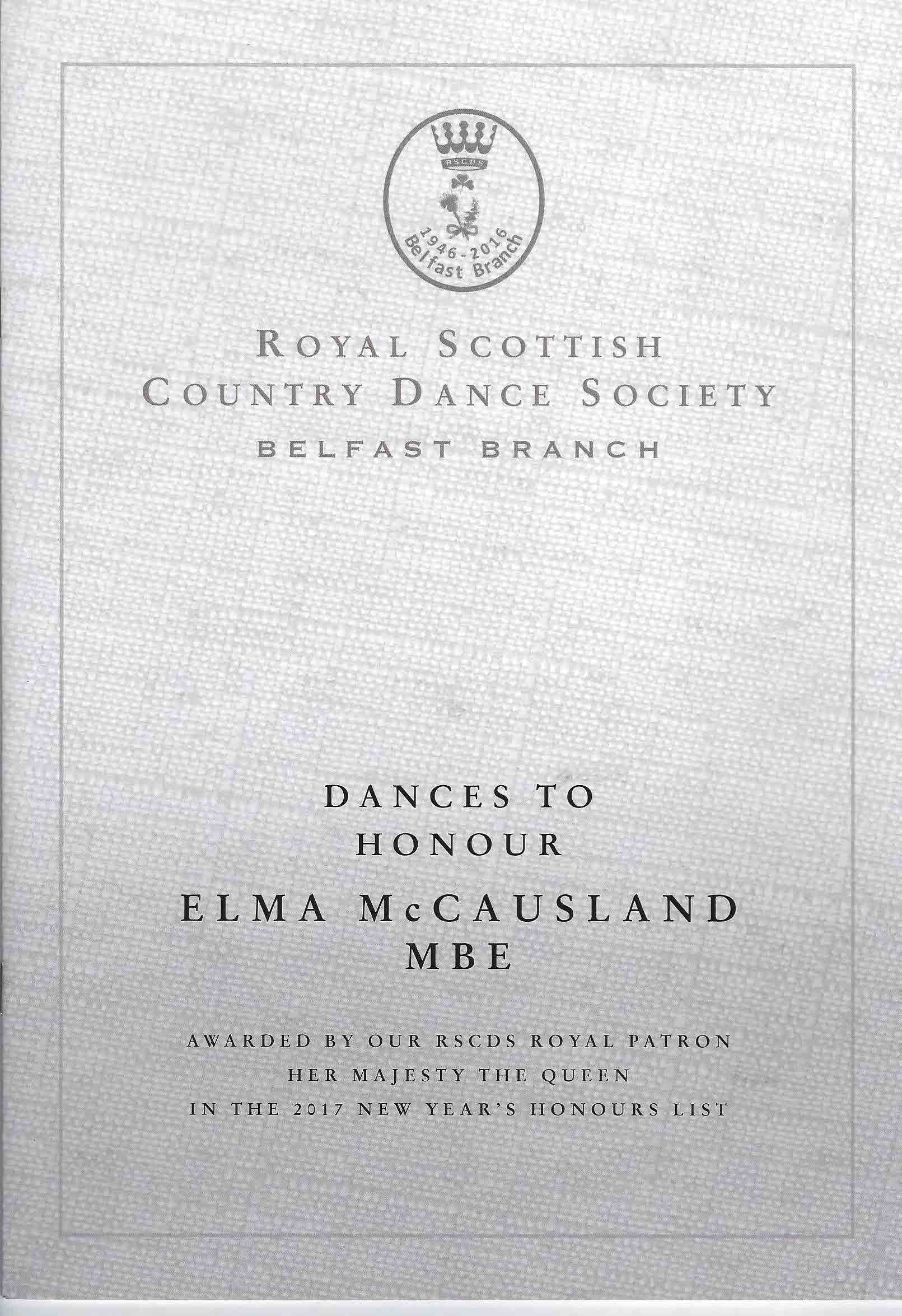 Dances to Honour Elma McCausland MBE Incl CD