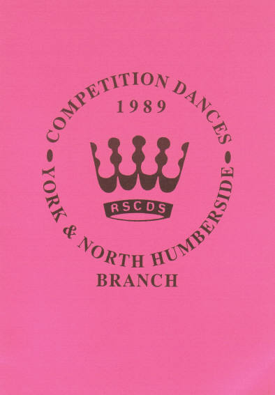 York & North Humberside Branch Competition Dances 1989