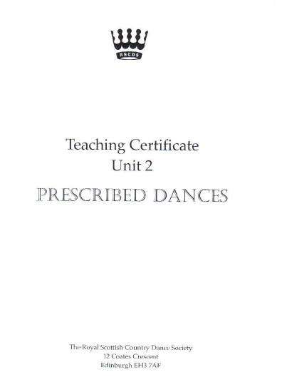 Examination Dances: Prescribed Dances