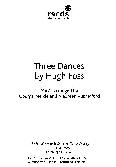 Three Dances by Hugh Foss